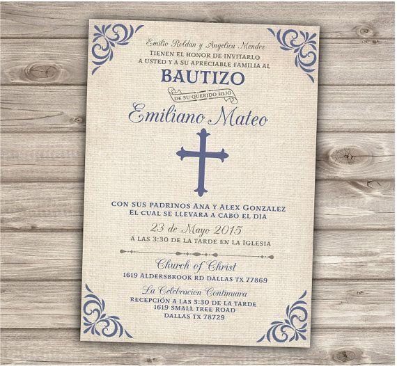 Baptism Invitation Christening Invite Printable Printable