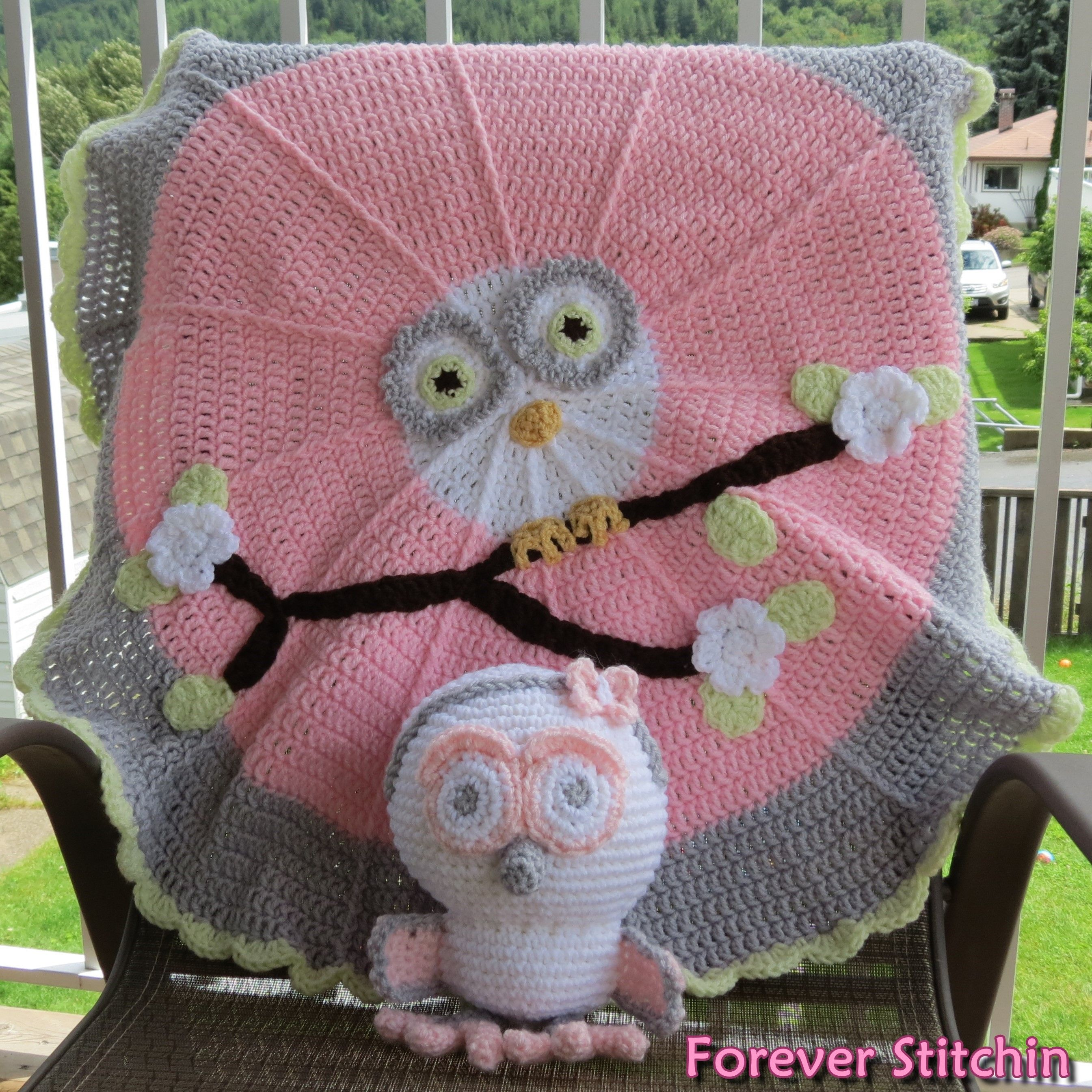 Complete owl set blanket pattern from redheart and owl pattern blanket pattern from redheart and owl pattern from bankloansurffo Image collections