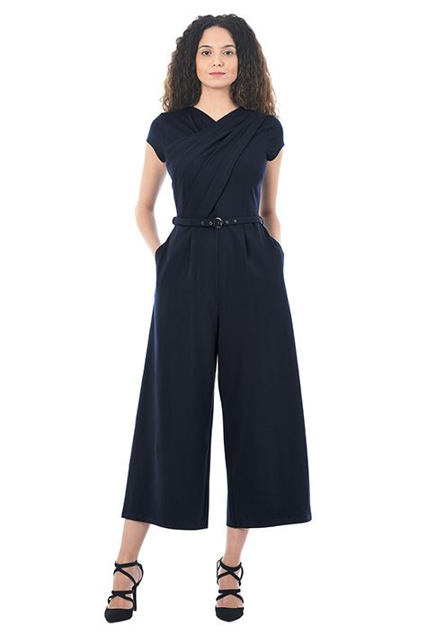 3c5cf289f545 I  3 this Pleat front cotton jersey knit jumpsuit from eShakti ...