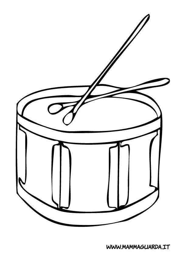 disegni da colorare e stampare gratis strumenti musicali