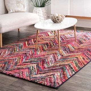 Nuloom Retro Rainbow Chevron Pattern Area Rug 5 X 8 Retrohomedecor
