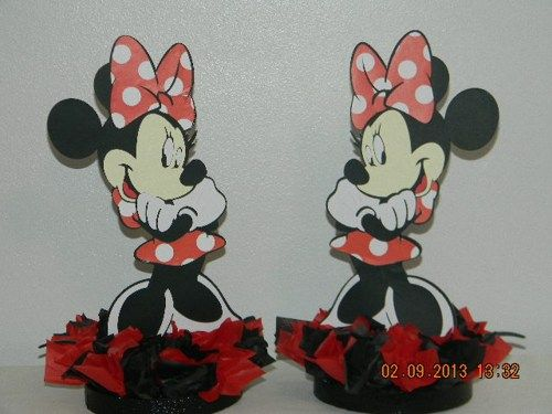 Red Minnie Mouse Centerpieces   PoppinPartyDesigns - Novelty on ArtFire