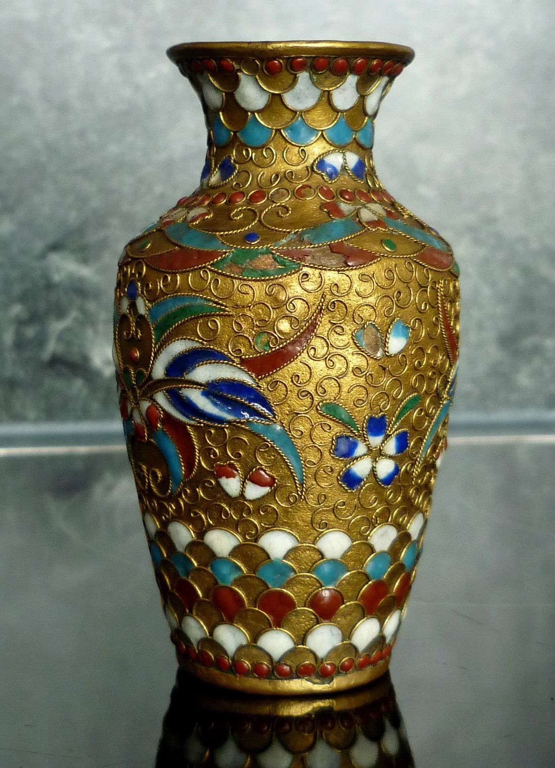 Antique chinese cloisonne small vase russian enamel gilt1900s antique chinese cloisonne small vase russian enamel gilt1900s 1930s ebay reviewsmspy