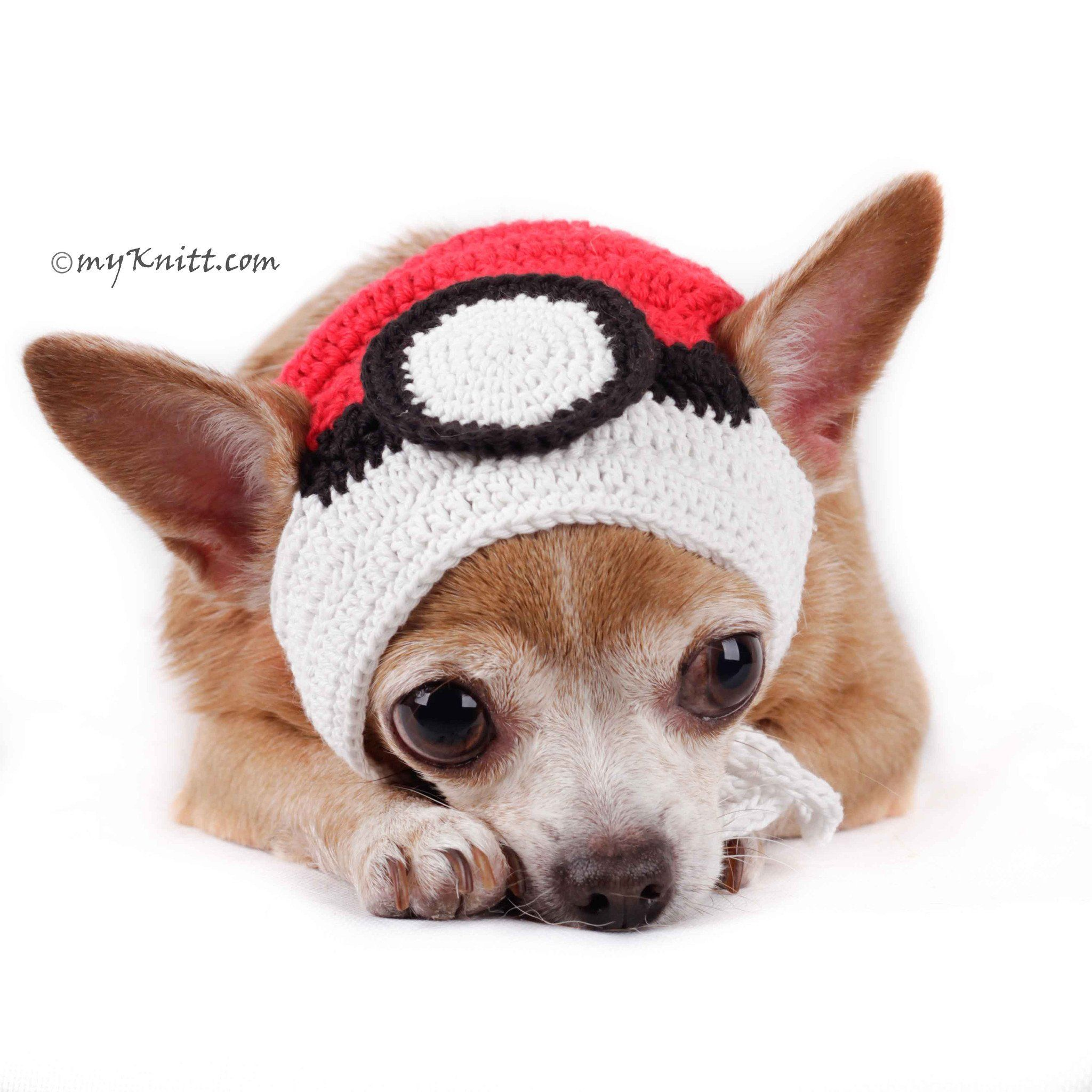 d6d6d2be581 Pokemon Ball Dog Hat Halloween Cute Pet Accessories DB1 by Myknitt