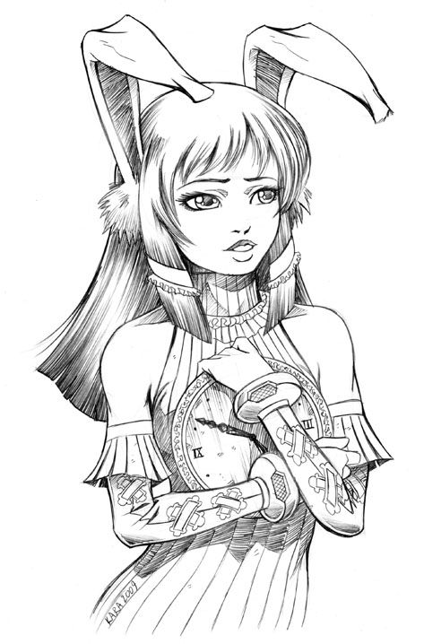 Bunny Girl by Karafactory.devia... | Coloring pages DeviantART ...