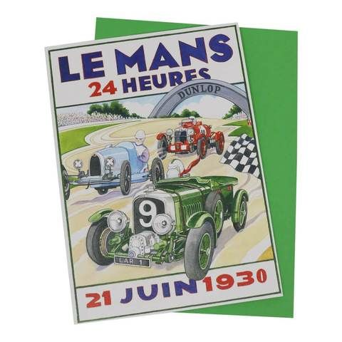 Le Mans 24 Hours Classic Racing Car Greetings Card