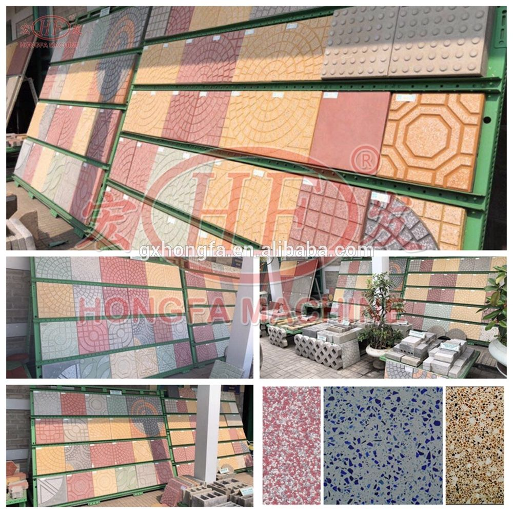 Pin By Yukii On Cement Block And Eps Wall Panel Machine In 2020 Terrazzo Tile Brick Tiles Brick Paving