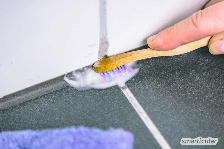 Fugen reinigen mit Hausmitteln preiswert und