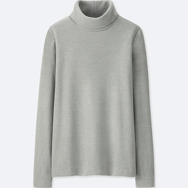 Uniqlo Heattech Fleece Turtleneck Long Sleeve T Shirt
