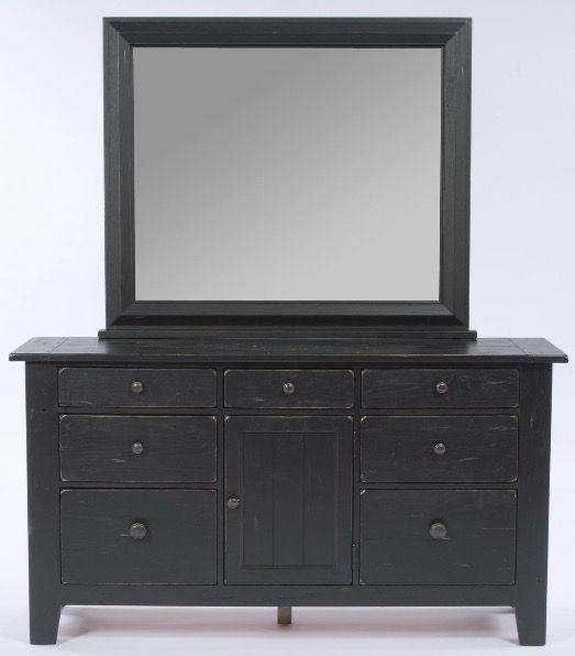 Broyhill Attic Heirlooms Door Dresser Mirror In Black Stain Dresser With Mirror Broyhill Furniture Collection