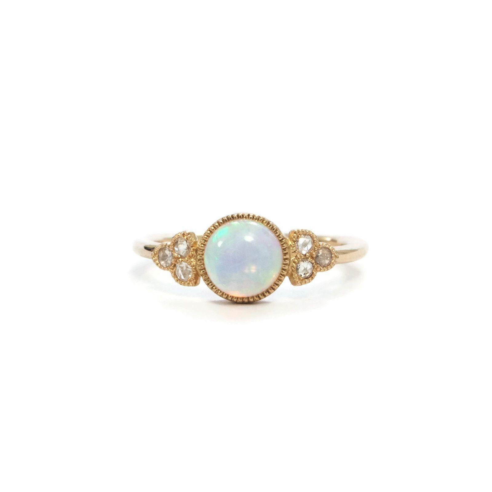 Bague opale et or