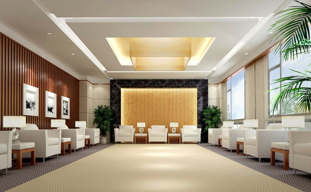 Modern false ceiling design for hall application design for Dining hall wall design