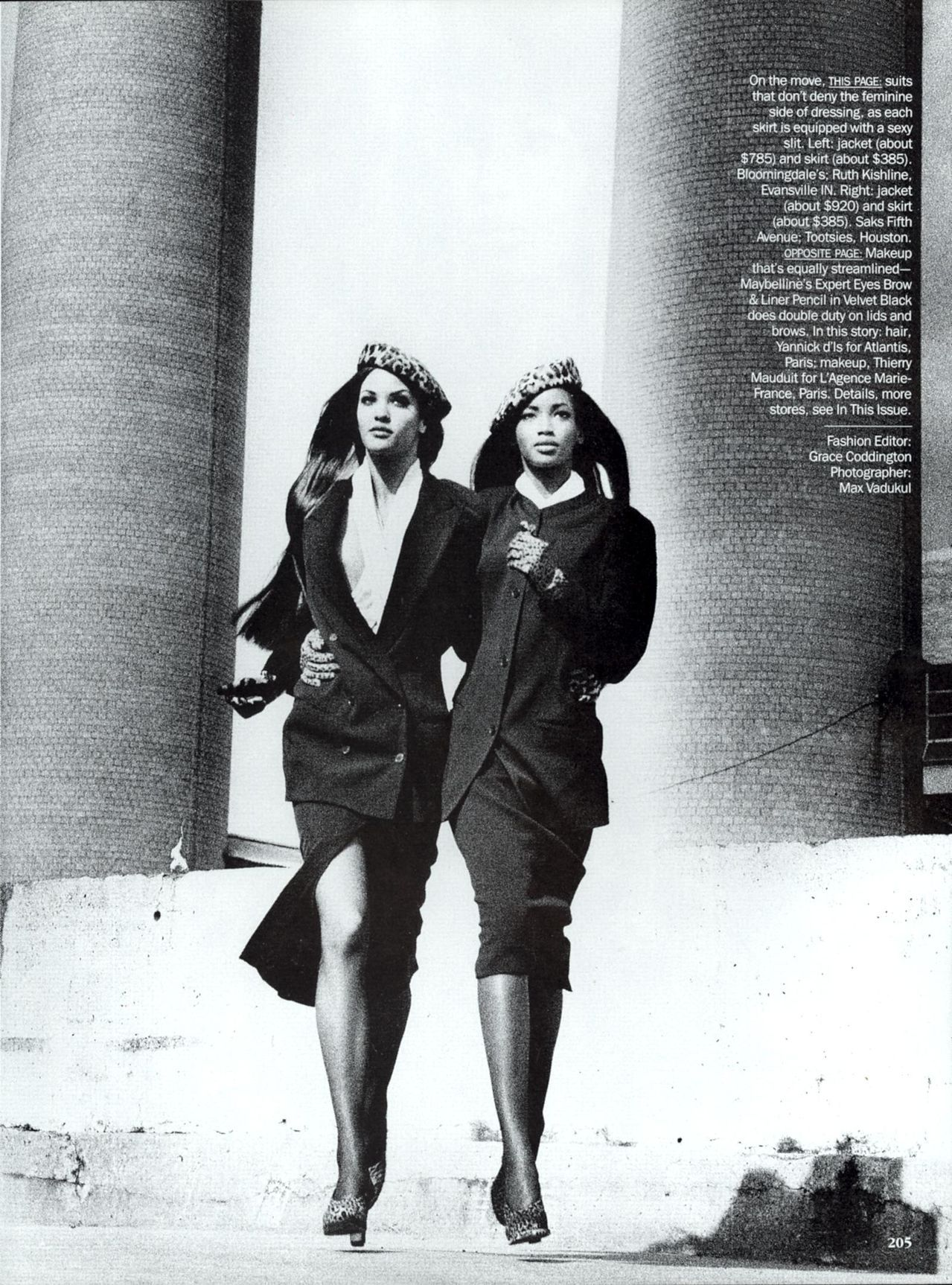 Claudia Mason & Beverly Peele in Modern Times for Vogue, August 1992 Shot by Max Vadukul Styled by Grace Coddington