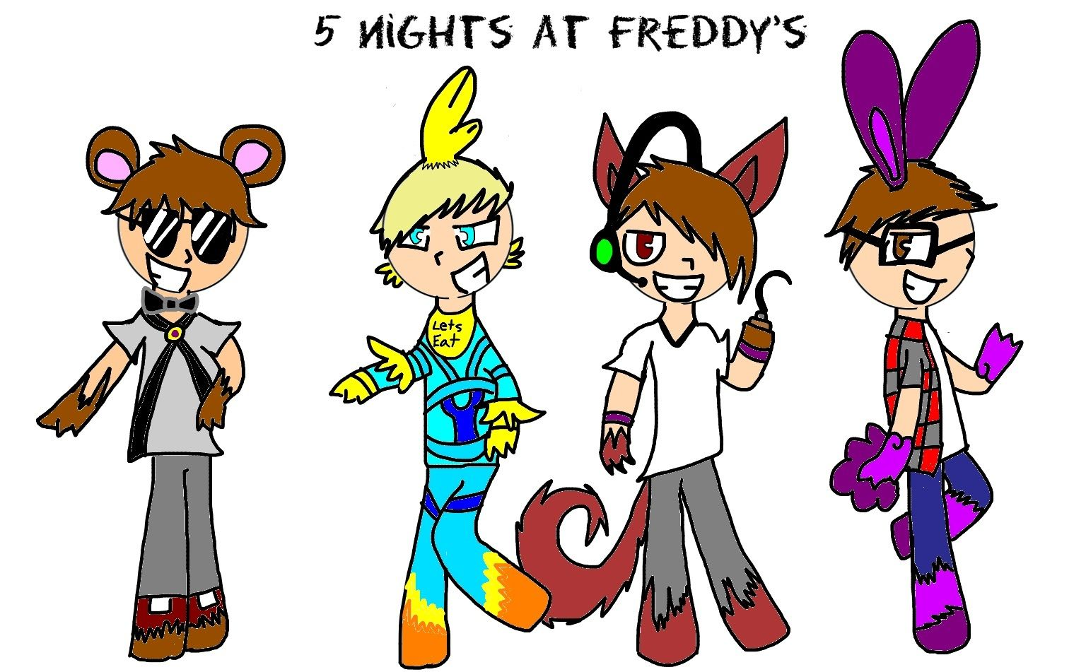 freddy fazzbear skydoesminecraft chica the chicken