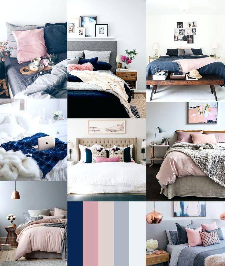 grey white and pink bedroom ideas elegant navy blush