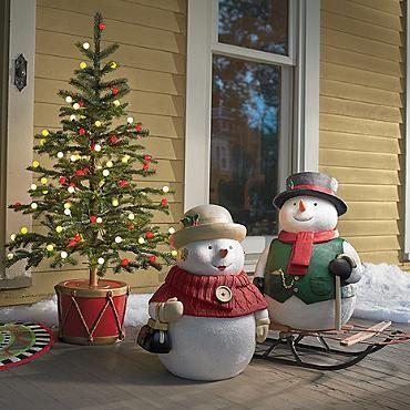 Outdoor Snowman Scene Kit Crafts Pinterest Outdoor snowman - outdoor snowman christmas decorations