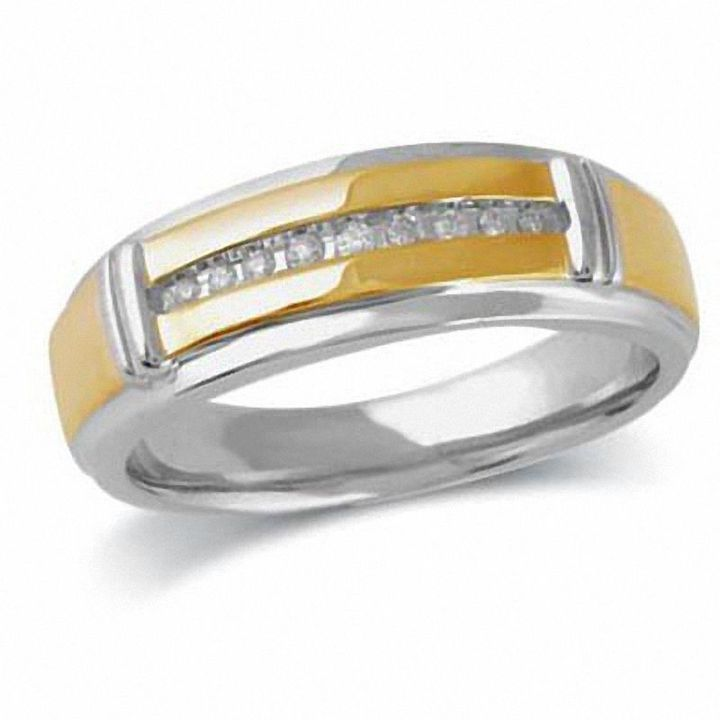 Zales Mens 1/10 CT. T.w. Diamond Wedding Band in Sterling Silver 2VdDmVaScK