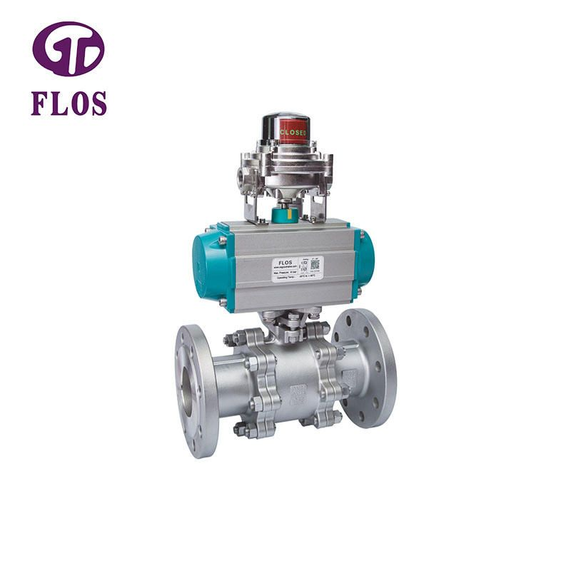 3 Pc High Platform Ball Valve Is Connecting Pipes In Which Water Oil Gas Flow Can Be Open Close Direct To Its Adequate Function Under Pneumatic Actuator With With Images