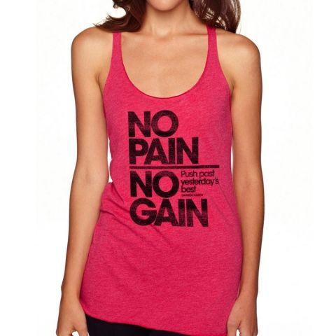 Darren Hardy - No Pain Women's Racerback Tank  #darrenhardy #darrenhardyquotes  #kurttasche