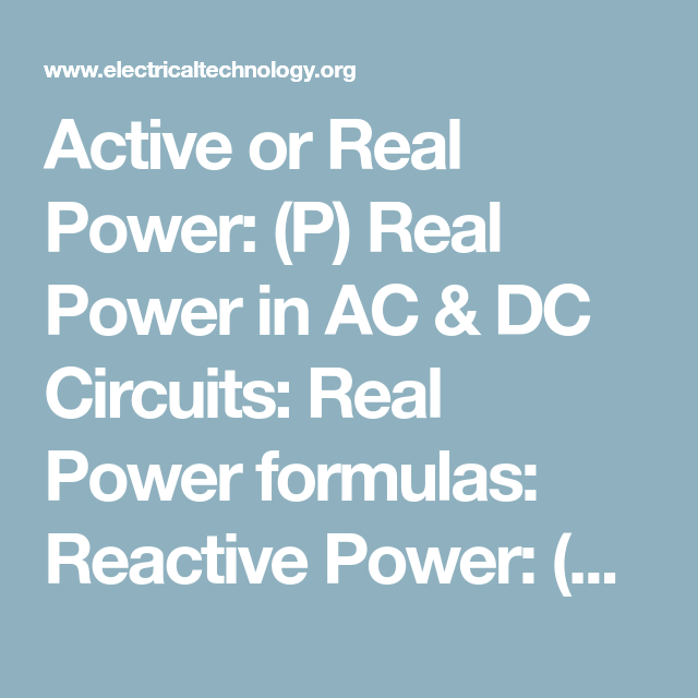 Active, Reactive, Apparent and Complex Power. Simple Explanation ...