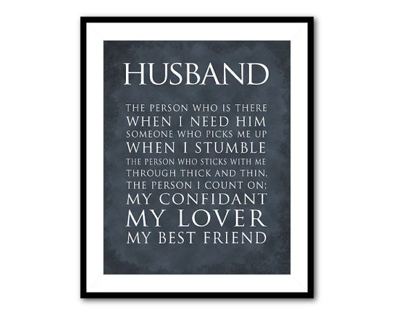 Anniversary Wedding Gift Husband Typography Print What Is A Quote Valentine S Wall Decor For