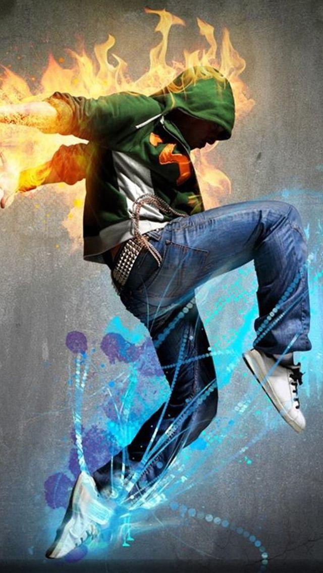 Fire Hip Hop Dancing Sport Iphone 5s Wallpaper In 2019