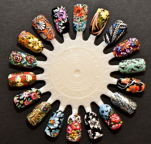What a talon ted bunch artists unveil uks first exhibition colourful display the illustrated nail artwork is just one of the pieces on prinsesfo Image collections