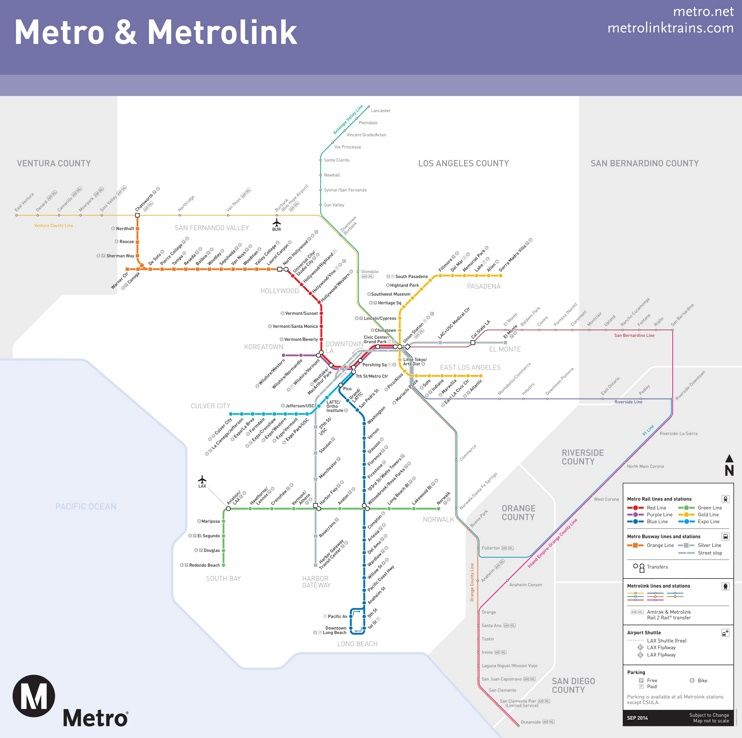 Los Angeles Metro And Metrolink Map Maps Pinterest Usa: Metrolink Map Los Angeles At Infoasik.co