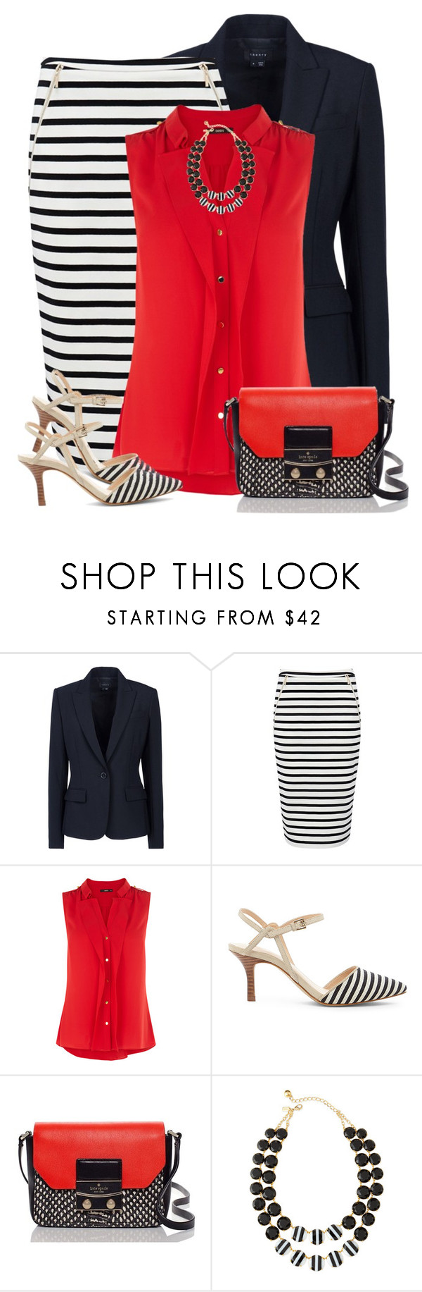 """Matching Skirt & Shoes"" by daiscat ❤ liked on Polyvore featuring Theory, Forever New, Oasis, Sole Society and Kate Spade"