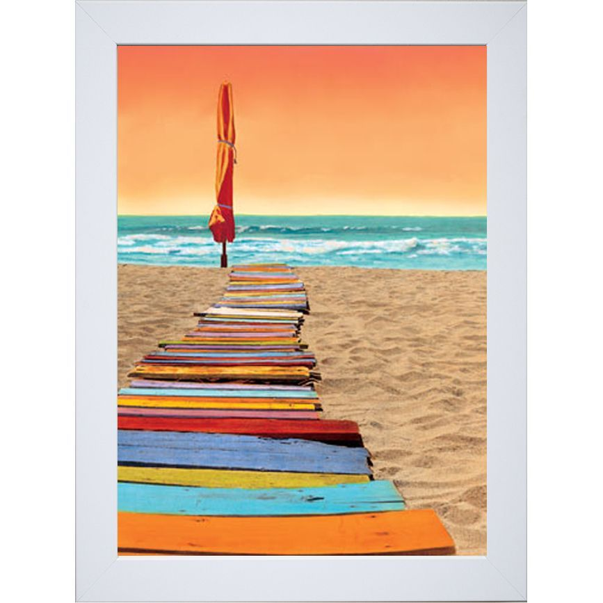 li>Artist: Robin Renee Hix </li><li>Title: Orange Beachwalk</li><li ...