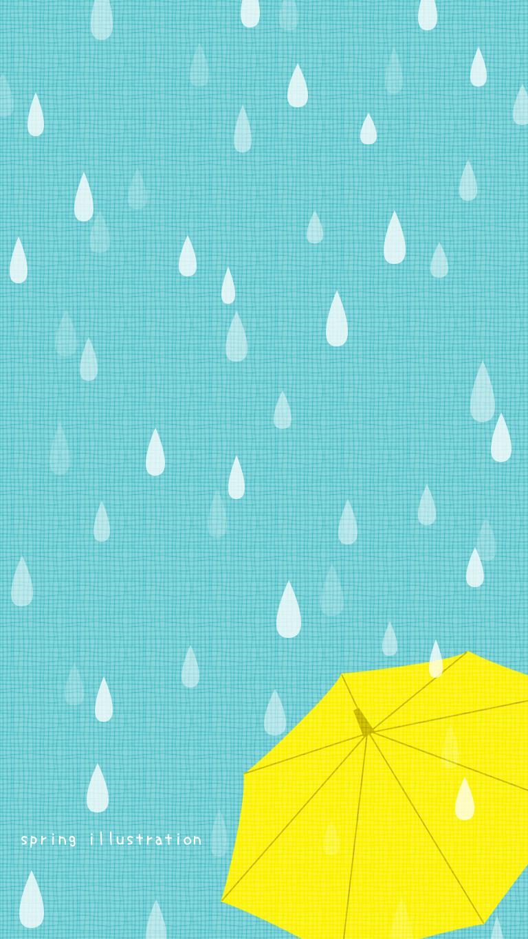 Umbrella 梅雨のイラスト壁紙 2020 あじさい イラスト 傘