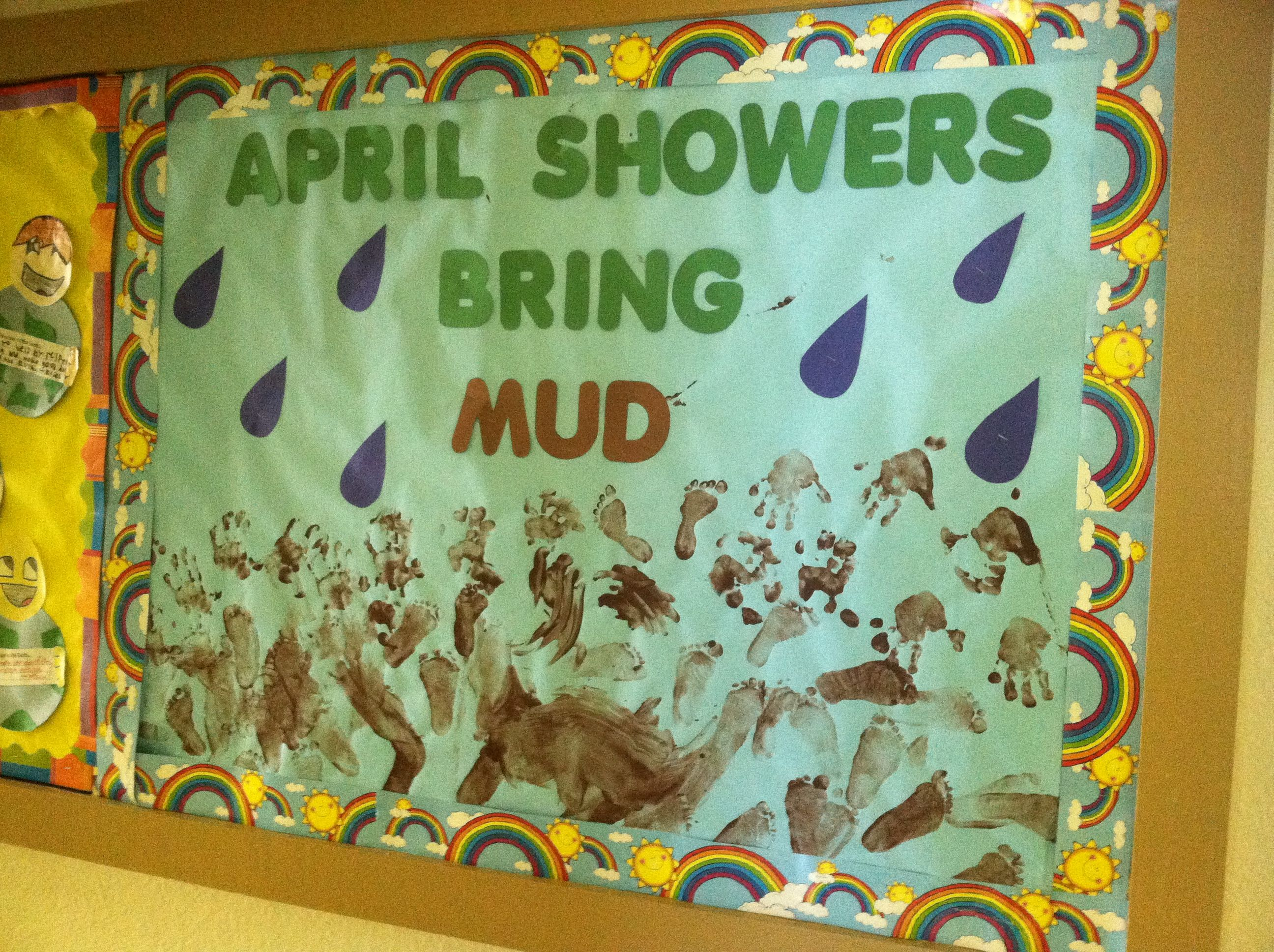 April Showers Spring Bulletin Board Pinspiration Pinterest