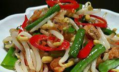 Resep Tumis Tauge Buncis Ikan Asin Makan Malam Tumis Makanan Sehat