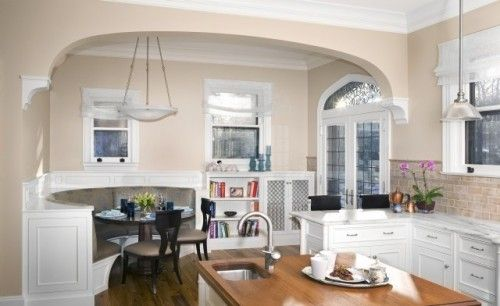 Exceptional Gorgeous Arch, Detailing   Excellent Definition Of Space. Love The Banquette .