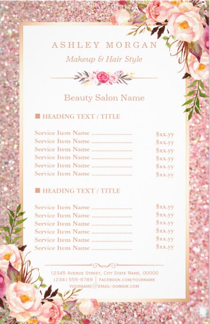 Eyecatching Salon Menu Templates Psd Ai Free Premium Inside Salon Service Menu Template 10 Professional Templates Id Salon Menu Salon Services Menu Template