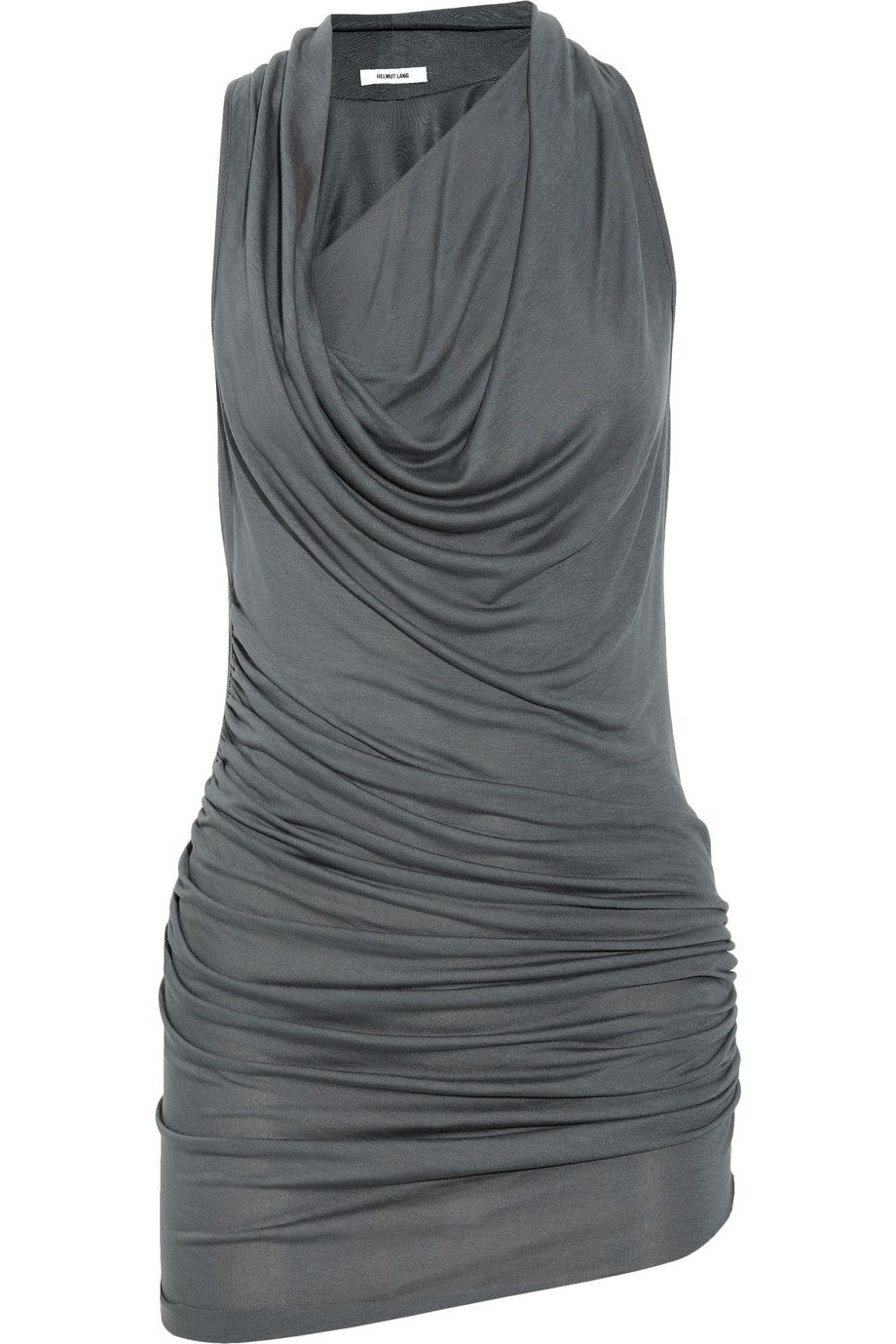 Helmut Lang Scala draped stretch-jersey top NET-A-PORTER.COM