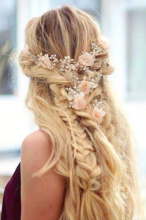 Boho Inspired Creative And Unique Wedding Hairstyles Hochzeit Frisuren Hochzeitsfrisuren Frisur Hochzeit Hochzeitsfrisuren Lange Haare