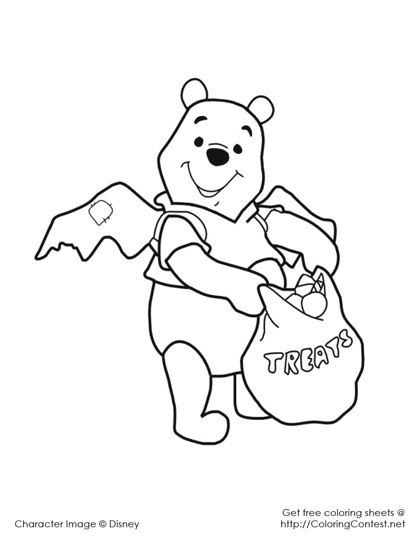 Disney Halloween Coloring Pages 5 Free Coloring Page Site Halloween Coloring Pages Disney Coloring Pages Bear Coloring Pages
