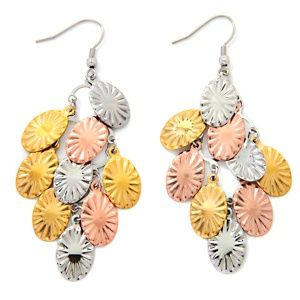 Stately Steel Tri-Color Chandelier Earrings at HSN.com. | My ...