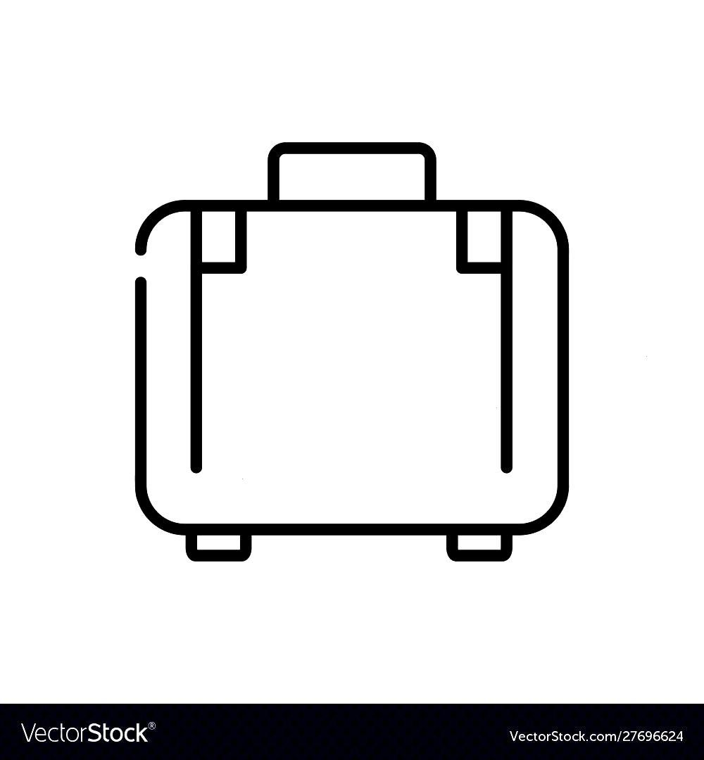 Suitcase luggage tourism travel thick line Vector Image , - -