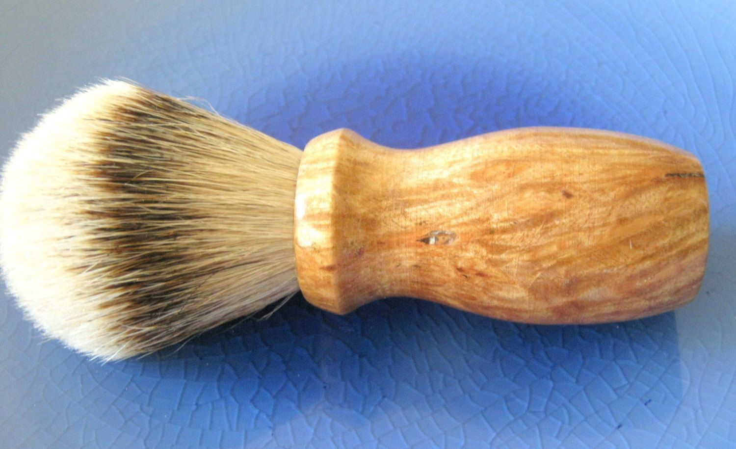Handmade Silvertip Shaving Brush with Maple Burl wood by HANDCRAFTEDbyBAZLUR on Etsy