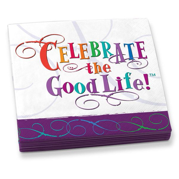 Celebrate The Good Life Beverage Napkins Graphic Is