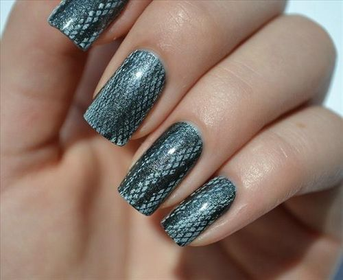 Simple and Best Nail Designs in 2013: Snake Skin Nail Designs ~ Nail Designs Inspiration