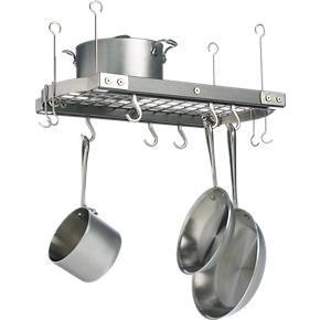 Small Grey Ceiling Pot Rack in Pot Racks | Crate and Barrel