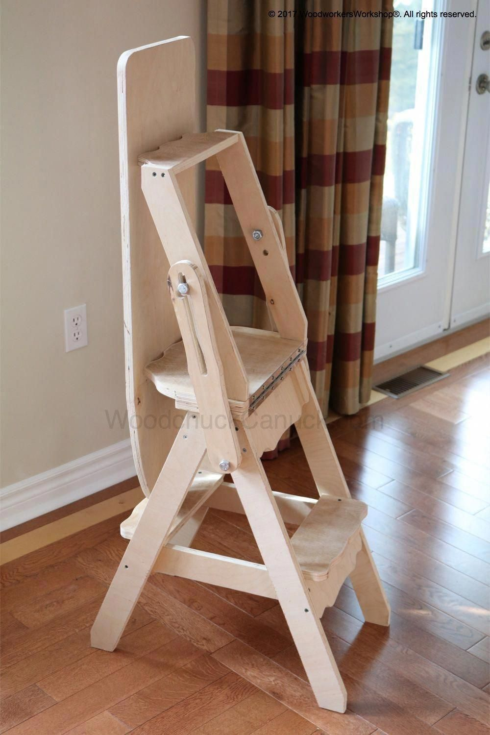3-in-1 Chair Woodworking Plan #woodworkingprojectschair