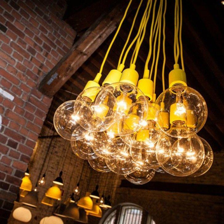5rooms E27 yellow pendant light designed by Mattias Ståhlbom for - kronleuchter modern schlafzimmer