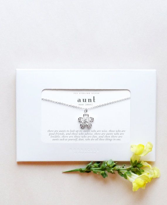 Moonacresbylp Sterling Silver Aunt Gift Aunt Jewelry New Aunt Gift
