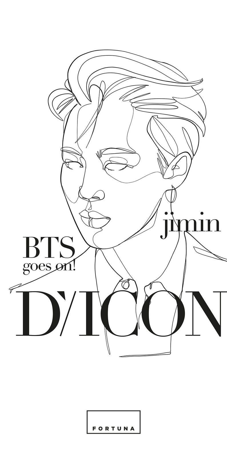 Photo of BTS Poster Jimin DICON cover