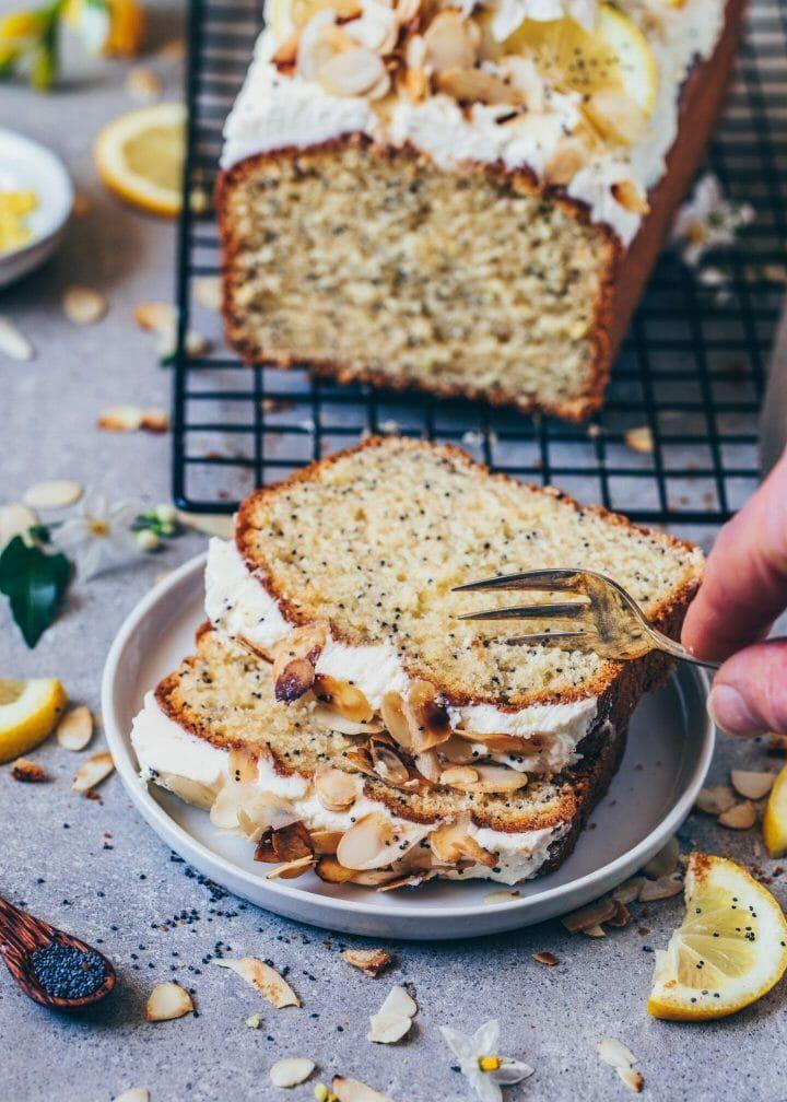 Lemon poppy seed cake vegan recipe easy vegan cake
