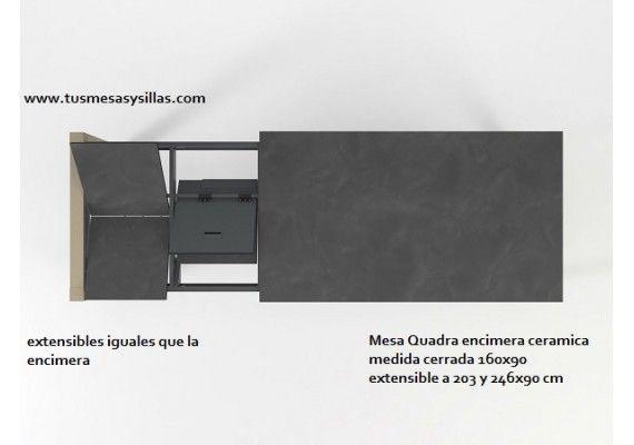 Mesa cocina extensible Quadra de Cancio Vetas, estilo nórdico ...